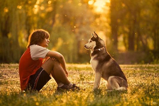 человек и пес фото
